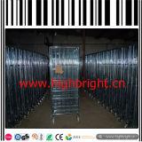 Cage lourde de palette de treillis métallique avec des roues