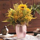 Полоса рельефным матового красочные цветы вазы из стекла