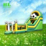 De groene en Gele Droge Dia's van de Uitsmijter van de Spelen van de Voetbal Opblaasbare