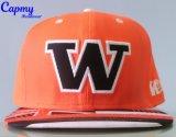 Surtidor anaranjado del sombrero del casquillo del Snapback del algodón del color