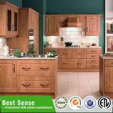 O MDF/PVC Armários de cozinha moderna com gavetas de arrumação lateral