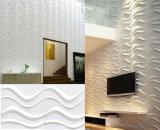 Conception d'onde facile sans intervalle Peel & Stick 3D panneau mural en PVC de panneaux muraux étanche