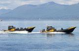 Aqualand 25feet 7.5mの14persons堅く膨脹可能な哨戒艇または肋骨のレスキューモーターボートか軍の哨戒艇(RIB750A)