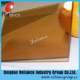 glace r3fléchissante en bronze d'or de 6mm/glace r3fléchissante en bronze foncée pour la construction