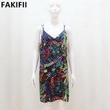 prix d'usine qualité haut de gamme V-Neck femmes Backless Robe florale occasionnel
