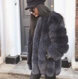 Heiße verkaufende reale Fox-Pelz-Mantel-Frauen-Pelz-Umhüllung von der Fabrik