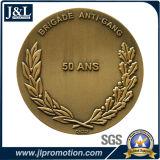 3D 디자인에 있는 주물 아연 합금 금속 동전을 정지하십시오