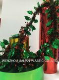 Твердые металлизированные пленка PVC/лист цвета обеих сторон зеленого для украшений гирлянды