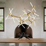 イタリア様式のMetal&Glassのシャンデリアの芸術のレストランLEDの枝ペンダントライト