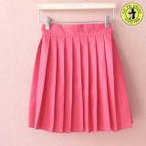 Farda da escola cor-de-rosa encantadora da menina do terno do marinheiro para a camisa e a saia