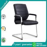 Silla de cuero del entrenamiento de la PU del precio de fábrica del pie lujoso moderno del acerocromo y silla de la cena