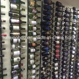 Полка держателя бутылки красного вина шкафа вина металла установленная стеной