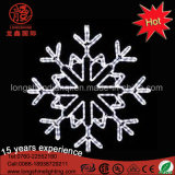 Indicatore luminoso decorativo esterno del LED 2D di natale esterno del fiocco di neve per la decorazione di eventi