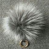 Grande Pompom della più nuova di modo della pelliccia POM POM pelliccia degli anelli portachiavi