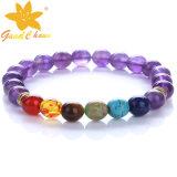 SMB-16112817 Colorfull semi preciosas pulseras de piedras preciosas