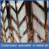 Divisor de sala de aço inoxidável decorativo personalizado para restaurante / sala