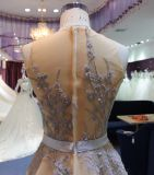 A Line / Empire Boat Neck Wedding Evening Dress
