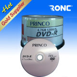 DVD en blanco al por mayor de DVD-R 16X DVD de 4,7 GB vacía