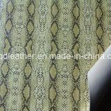 뱀 지상 이중 면 PU 신발 가죽 (QDL-SP044)