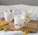 Taza de café esmaltada crujido de cerámica al por mayor 12oz