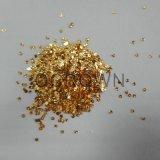 El clavo de aluminio forma escamas los cequis, decoración de las escamas del Irregular del brillo del oro