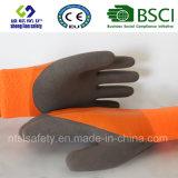 Латекс заморозил перчатки, перчатки работы безопасности отделки Sandy (SL-RS307)