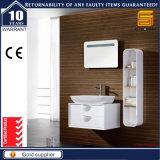 Cabinet de toilette en bois massif en laine blanche à haute brillance