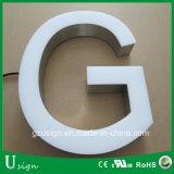 Las muestras grandes de la carta del Lit delantero de la alta calidad LED/la decoración delantera del almacén se encienden para arriba