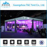 A barraca a mais atrasada do hexágono do projeto do alumínio com as paredes de vidro para eventos ao ar livre do partido