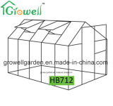 2.1m*3.5m 폴리탄산염과 Alu. 프레임 취미 온실 (HB712)