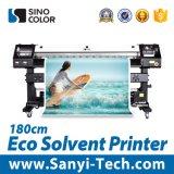 impressora solvente de 1.8m Eco com cabeça de cópia 2 Dx8