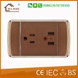 Commutateur électrique de mur d'utilisation à la maison de 3 troupes