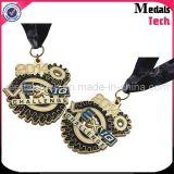 Medallas suaves de encargo del ancla del esmalte del níquel antiguo con el acollador