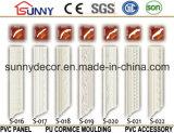 Genres multi de moulages d'intérieur de moulage de tête de corniche/polyuréthane d'unité centrale
