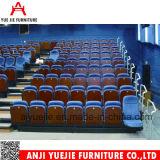 Silla plegable azul Yj001b del estadio de la escuela de la cubierta de tela