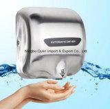 Сушильщик руки ванной комнаты теплой заполированности белизны держателя стены дуновения воздуха нержавеющий
