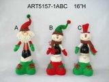 """16 """" h Санта и украшение Asst-Рождества держателя бутылки 3 вина снеговика"""