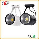 Vía LED Iluminación LED de 2 años de garantía in situ de techo Iluminación tienda Tracklight LED PAR30 AC85-265V Las lámparas LED