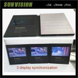 3 LCD toont Van de Bedrijfs kaart van de Muziek Brochure