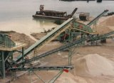 Planta machacante de piedra del río ahorro de energía (100 TPH)