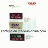 Цветастые часы стены цифров большие СИД с рамкой дуги для домашнего и напольного