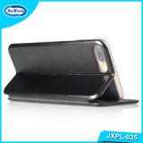 Caso del tirón del cuero de la PU de las ranuras para tarjeta 360 TPU del soporte para el más del SE 6s del iPhone 5 para Samsung/Oppo