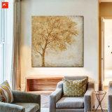 Peinture à l'huile d'arbres Golden Golden Deux pièces
