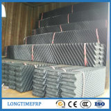 Materiale di riempimento ondulato inclinato PVC della torre di raffreddamento di larghezza 300mm 600mm