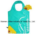 Bolso promocional plegable de las compras, estilo animal de los pescados, bolso reutilizable, ligero, de ultramarinos y práctico, regalos, accesorios y decoración