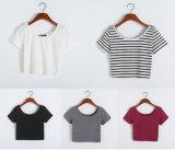 方法女性のセクシーな穀物の上の偶然のブラウスのベストのTシャツ(A219)