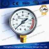 "50mm 2 "" 125psiの最大圧力の概要の圧力計"