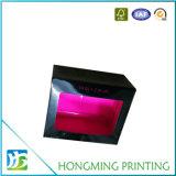 Caixa de cartão do lustro com o indicador desobstruído do PVC