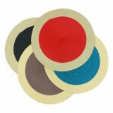Cores 100% PP Round Woven Placemat para Tabletop