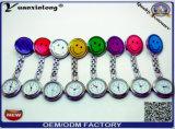 El reloj de la enfermera del caucho de silicón de la fábrica Yxl-271, cuida los relojes más baratos de la venta caliente médica del reloj del reloj Pocket/Fob